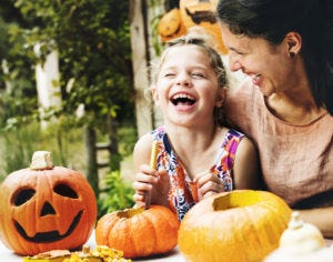 Special needs child crafts Halloween art